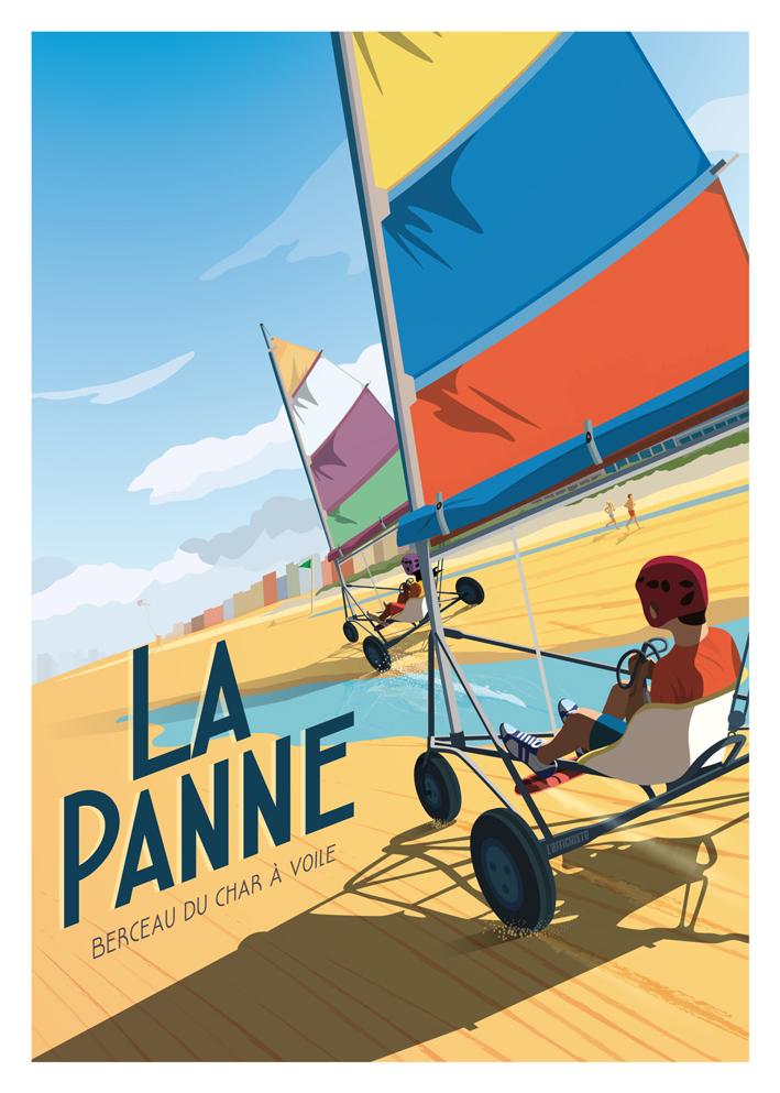 Affiche La Cote Belge La Panne L Affiche Belge Belgian Travel Posters