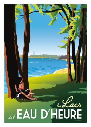 Affiche Belgique Lacs de l'Eau d'Heure